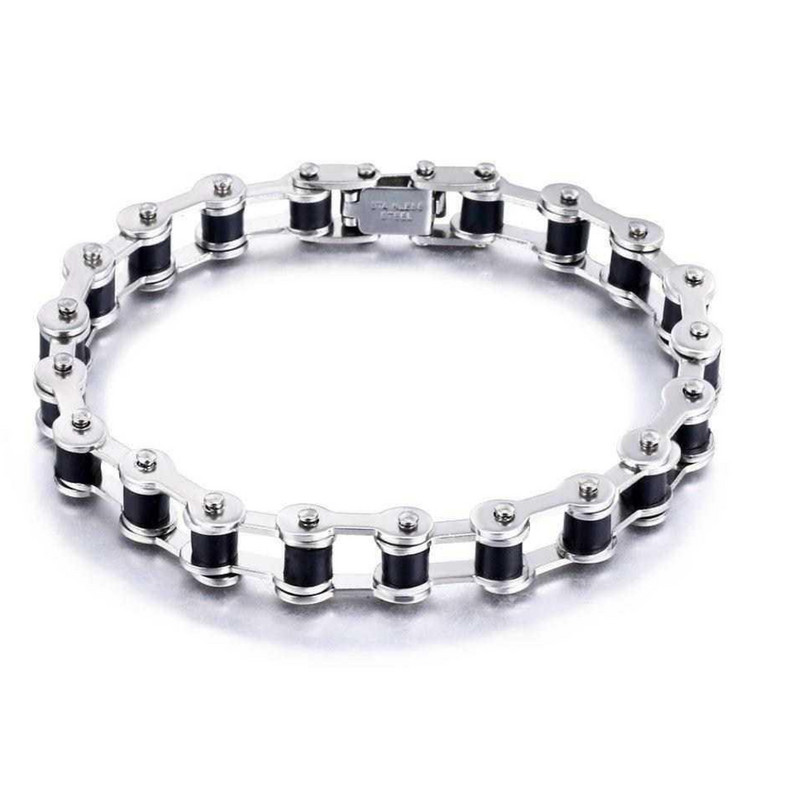 Motorcycle Bicycle Chain Bracelet male stainless steel Style Bracelet Charm man Bracelet