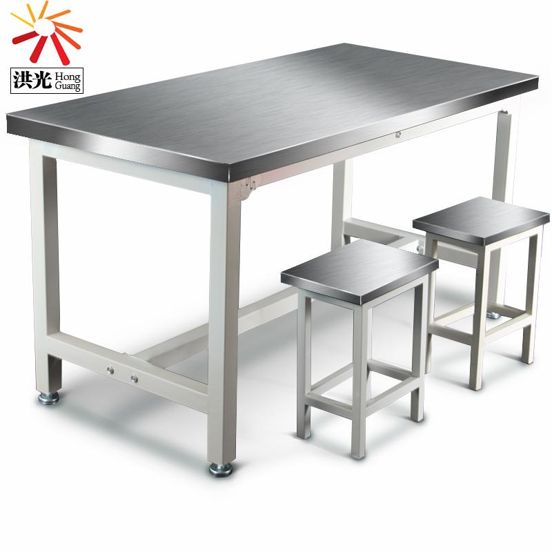 不锈钢工作台实验室操作台打包装配桌子食堂201无尘车间304不锈钢