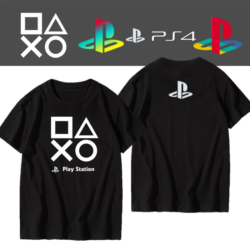 playstation索尼PS游戏机ps4经典周边男女学生纯棉短袖半截袖T恤