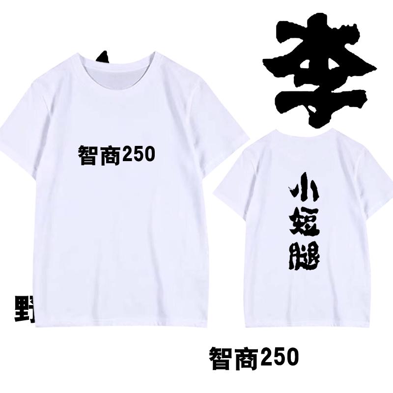王者荣耀T恤男女学生短袖半袖元歌露娜李白赵云阿珂衣服纯棉定制