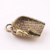 Китайский стиль чистая медная латунь ключ с застежкой Мышь кулон кулон детские Креативный подарок популярный бесплатная доставка по китаю мужские и женские