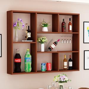 简约现代家用餐厅墙壁创意造型酒架酒柜壁挂饭店吧台悬挂式置物架