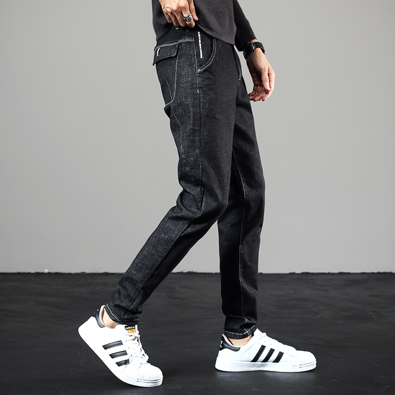 限时2件3折秋冬季男生青年直筒弹力韩版牛仔裤