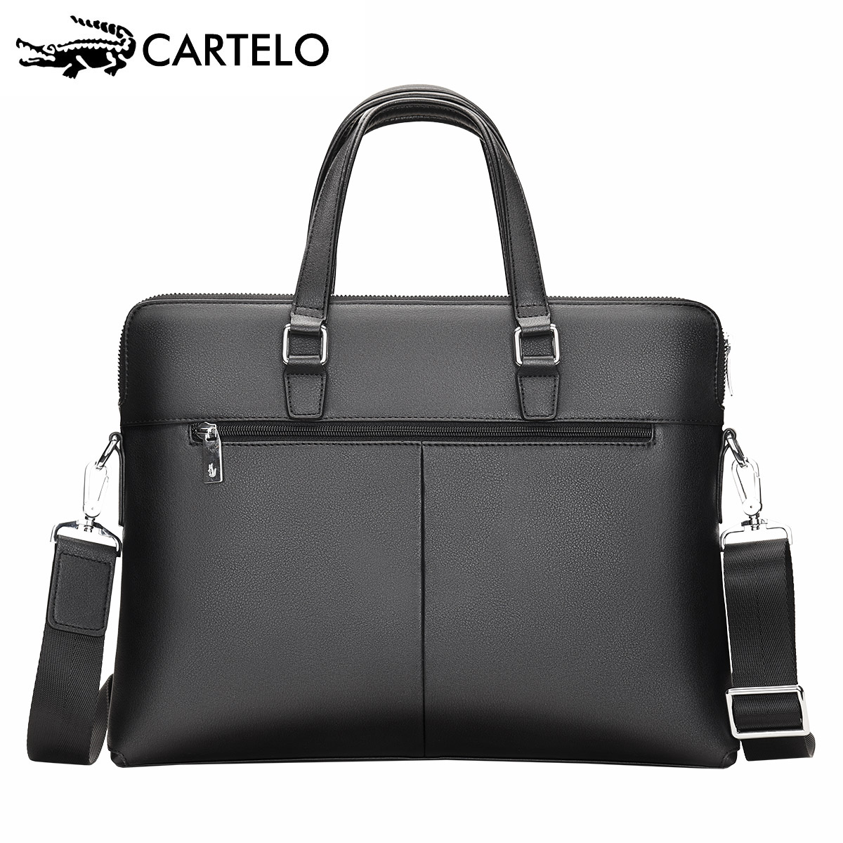 Cartier Crocodile Man's Bag Business Cowhide Bag Single Shoulder Bag Skew Bag Man's Genuine Briefcase Backpack