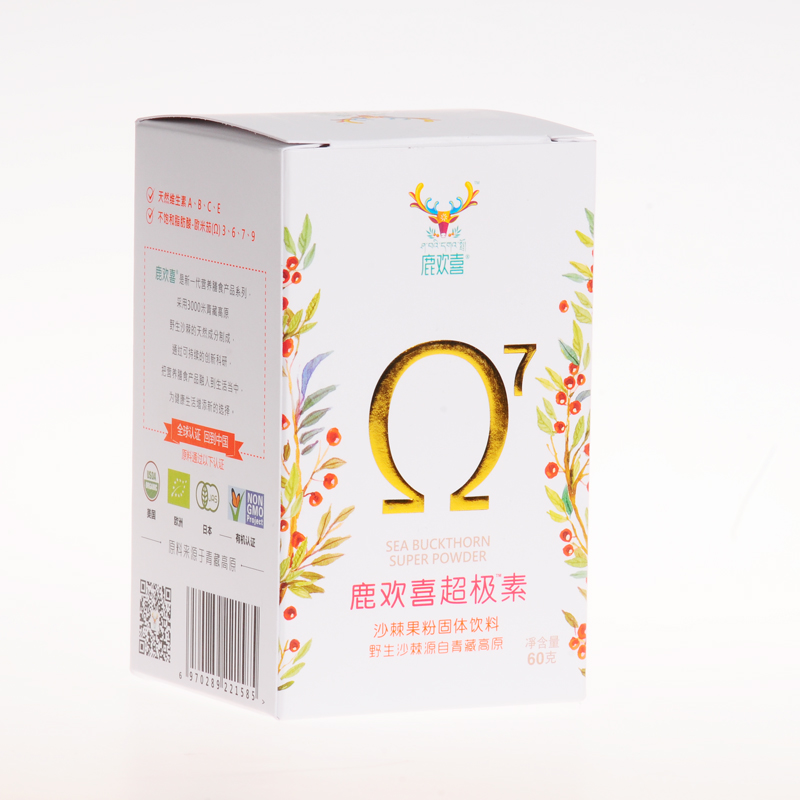 伊纳维康 鹿欢喜超极素沙棘果粉固体饮料 60g 油包粉固体饮料