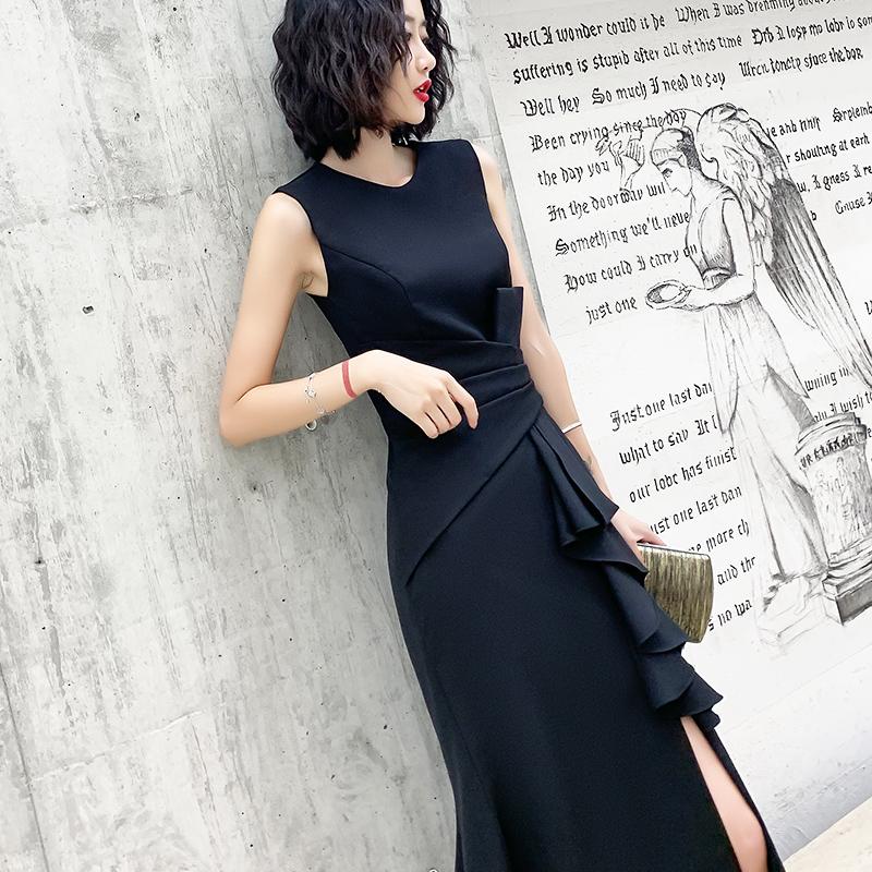 黑色宴会小晚礼服裙女2020新款长裙