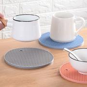 加厚大号杯垫4个硅胶隔热垫餐桌垫防烫垫碗垫子家用厨房锅垫北欧