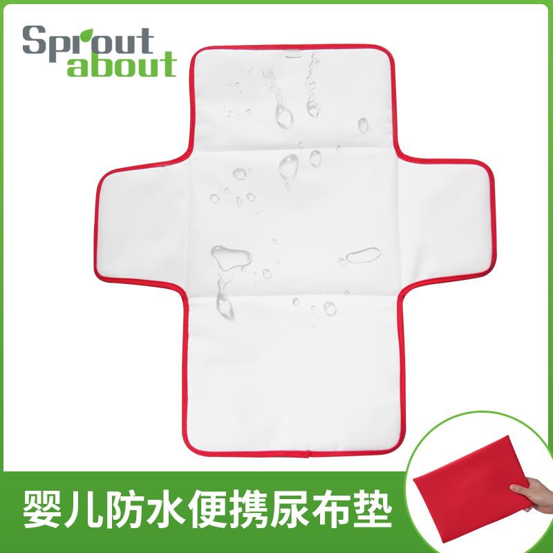 宝宝便携隔尿垫婴儿换尿布防水可洗透气尿垫户外易折叠新生儿用品(非品牌)