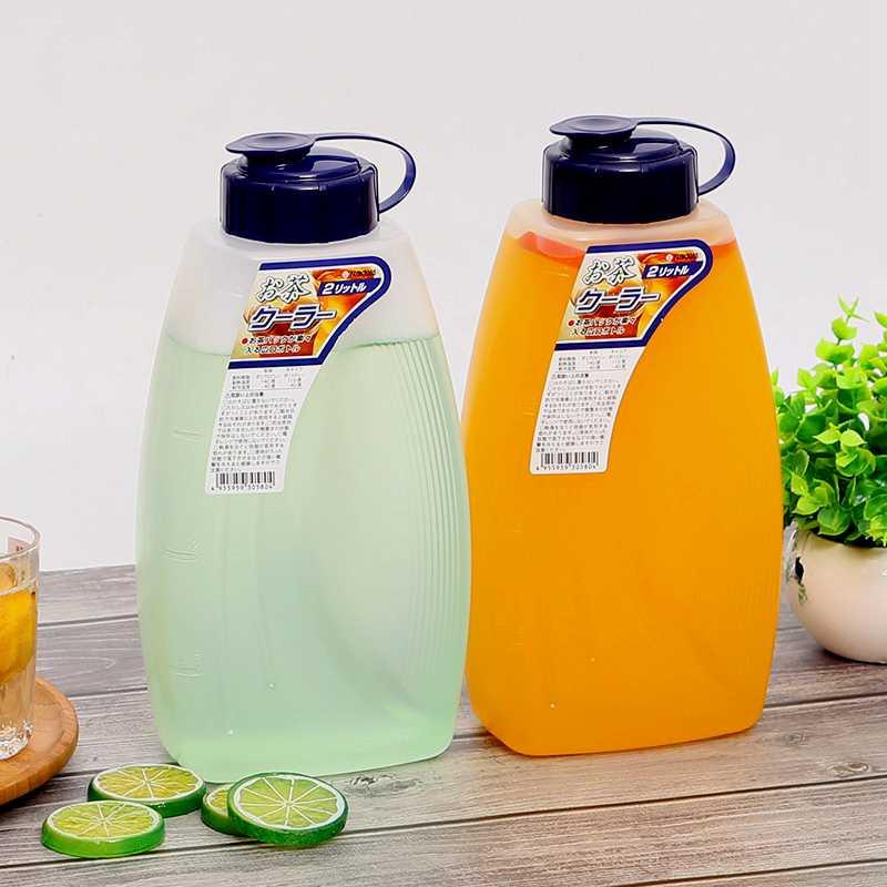 日本进口塑料冰箱饮料果汁瓶凉水壶