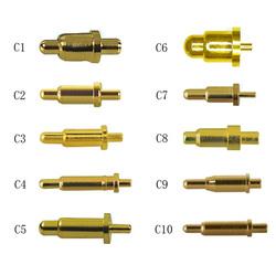 pogopin弹簧顶针充电弹簧触点弹针探针伸缩金属电池触点电源顶针