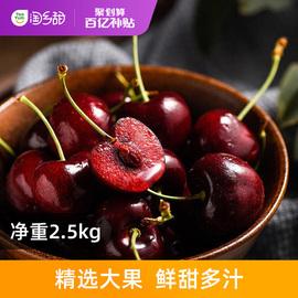 【百亿补贴】淘乡甜智利JJJ级车厘子2.5kg当季进口新鲜水果礼盒装图片