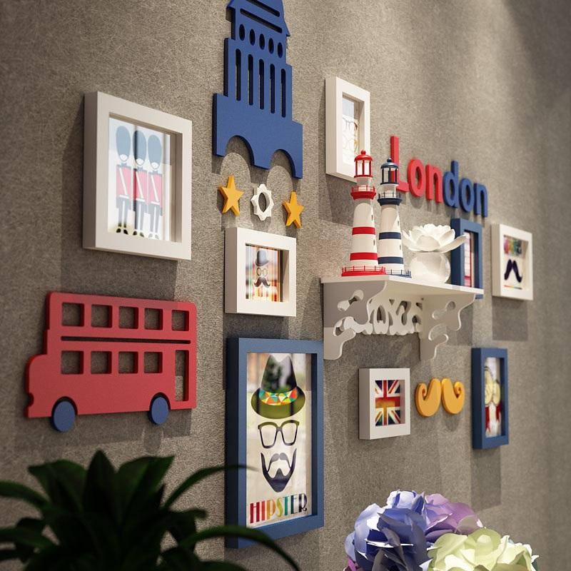 儿童相框3d立体卧室床头墙贴画