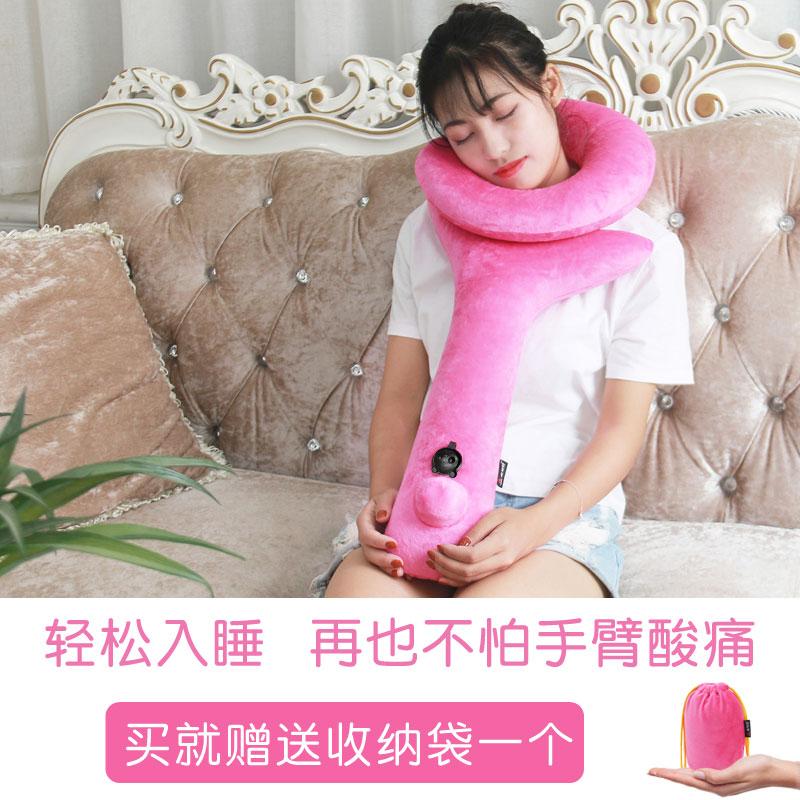 10月27日最新优惠脖子u型枕充气枕头颈枕居家抱枕
