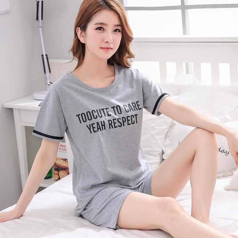夏短袖纯棉两件套装夏季韩版天睡衣正品保证