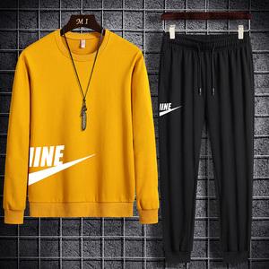 2021春秋季新款运动套装男士韩版潮流时尚两件套帅气潮牌休闲卫衣