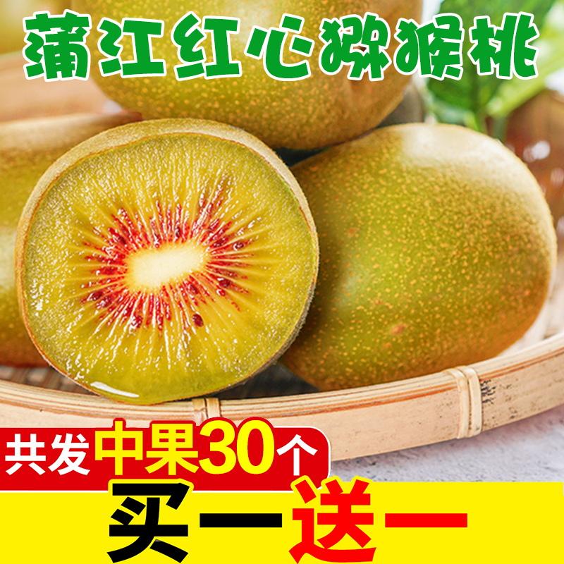 【买一送一】四川蒲江红心猕猴桃 新鲜当季水果弥猴整箱批发包邮