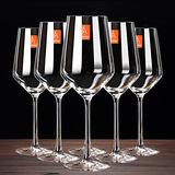 欧式水晶红酒杯套装6只家用大号酒杯2个创意葡萄醒酒器玻璃高脚杯