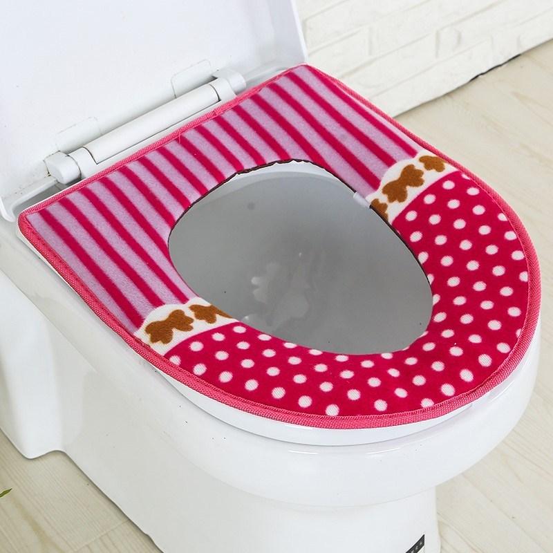 家用马桶垫坐垫圈通用圆形欧式U型大号加厚厕所坐便器套子 马桶套