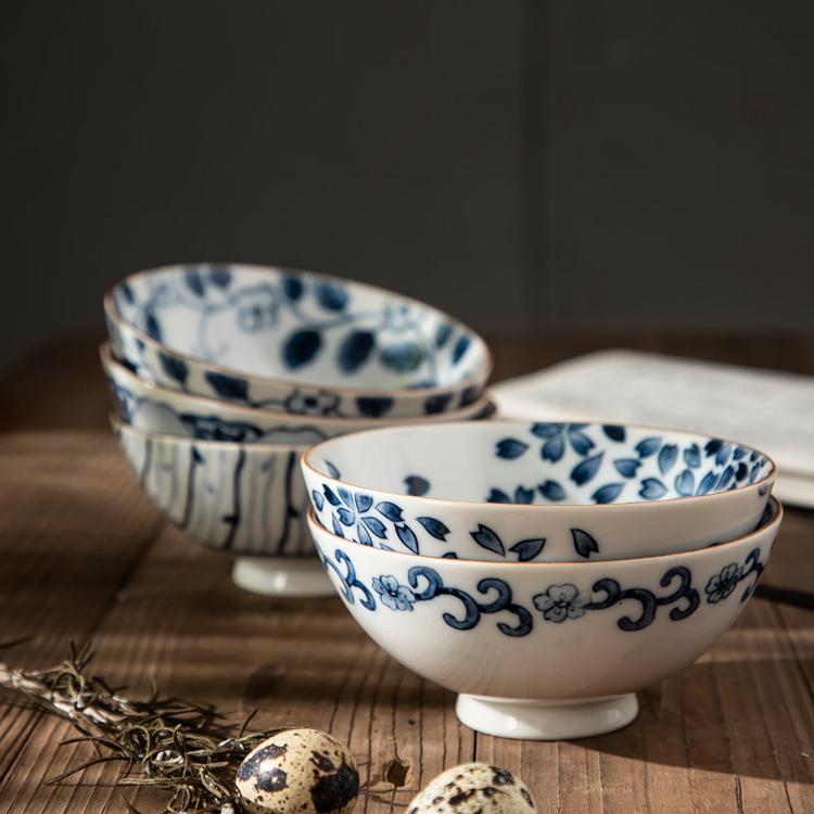 樱之歌日本产原装进口套装陶瓷盘子