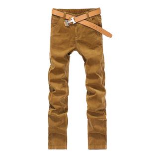 灯芯绒丁心绒直筒男士粗条绒休闲裤
