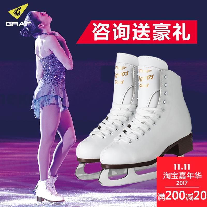 GRAF швейцария ледовые коньки обувной ребенок для взрослых настроение действительно лед скольжение коньки новичок специальность действительно коньки ледовые коньки обувной