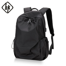HK shoulder bag men's simple personality schoolbag Korean fashion leisure computer bag outdoor travel portable backpack