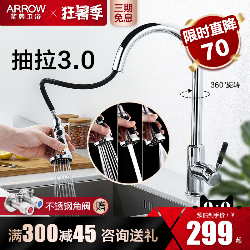 Wrigley bathroom kitchen pull type with spray gun faucet cold and hot dishwash basin sink universal expansion rotary faucet