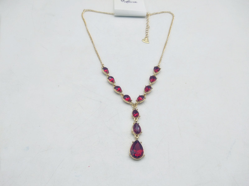 A24 European and American Jewelry foreign trade Japan and South Korea original single water drop Tassel Necklace