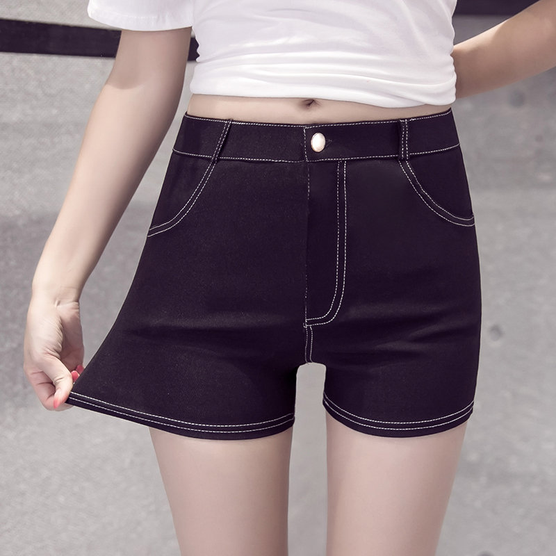 2021 spring and summer white line underpants women wear elastic tight hot pants leisure student summer shorts fashion