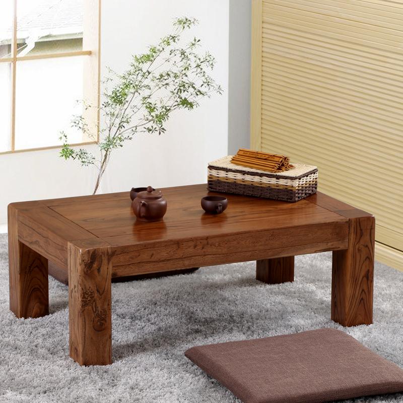 Татами кофейный столик дерево небольшой таблица старый вяз чайный стол письменный стол эркер кофейный столик небольшой стол короткая стол современный простой