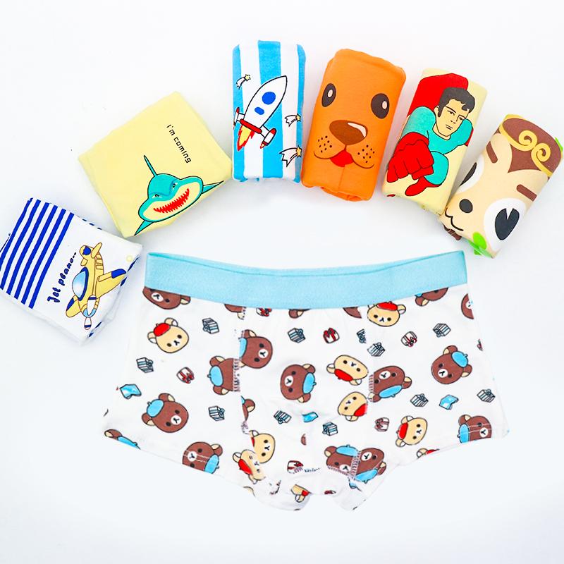 Boys underwear pure cotton childrens cartoon boxer Pants Boys warm boxer pants big boys shorts