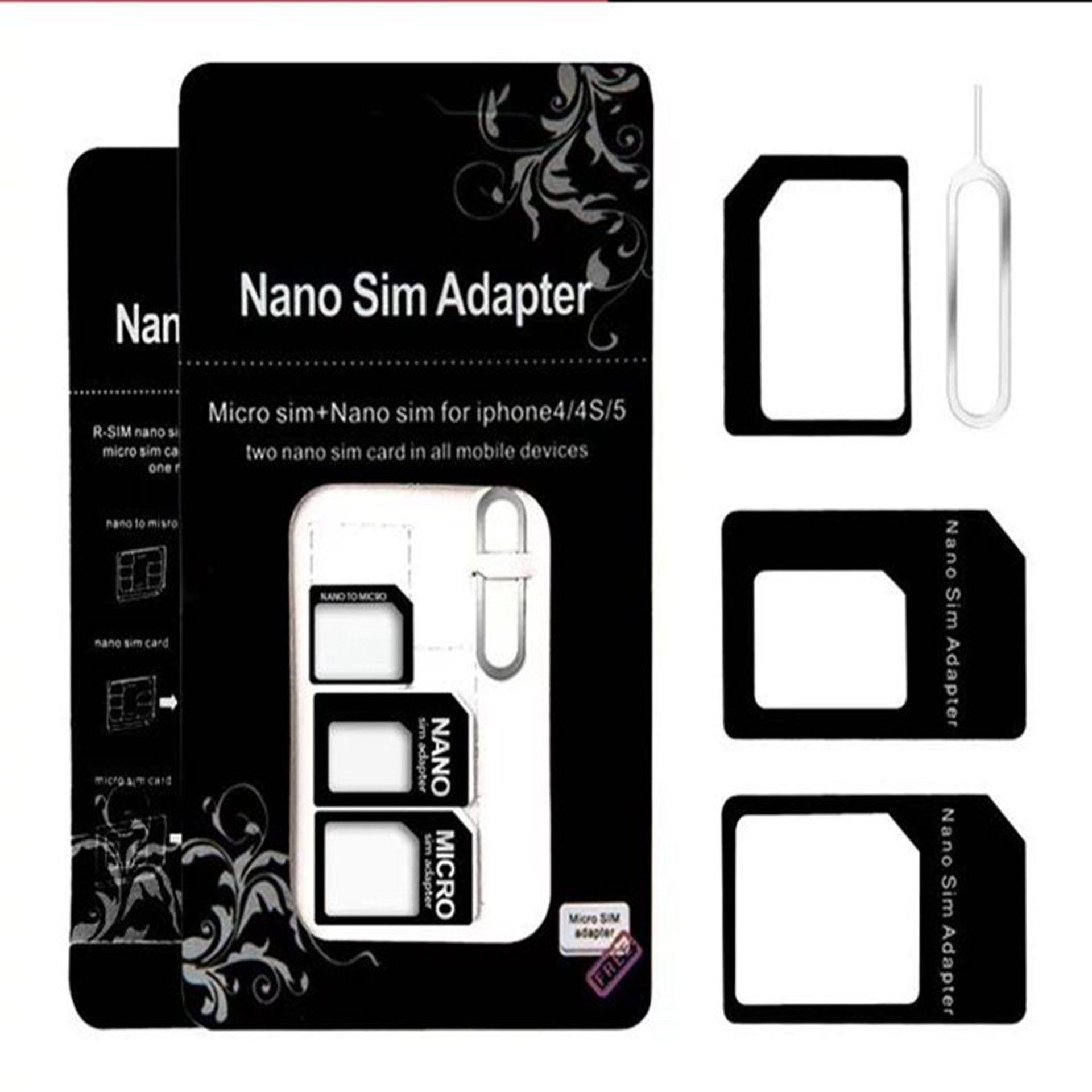 卡托 金属sim取卡针还原卡手机小卡转大卡nano卡套转换四合一