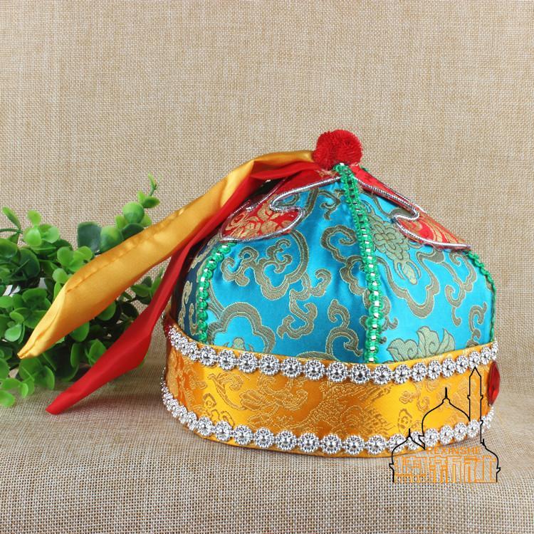 Новый Этнические характеристики национальной сцены головной убор Монгольские танцы шапка высококачественный Древний костюм Belle Prince Cap