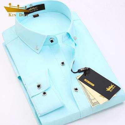 金盾男装2020春季衬衫男长袖商务休闲短袖衬衣男士半袖寸衫修身