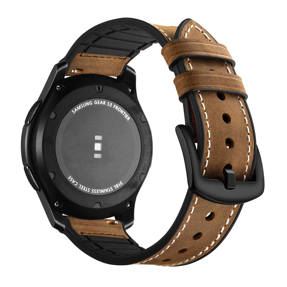 三星gear s3硅胶贴皮表带ticwatch pro/S2/E2华为watch GT2华米1/2代表带三星Galaxy Watch46荣耀magic手表带