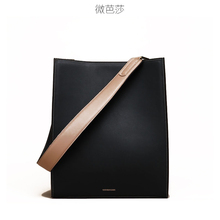 Micro-Bazaar Mass Leather Bag New Type 2019 Simple Oblique Bag Large Capacity Single Shoulder Bag Super Bag