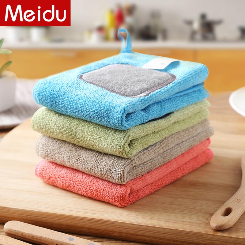 厨房抹布洗碗布吸水不易沾油百洁布去污洗碗巾不掉毛多功能清洁布