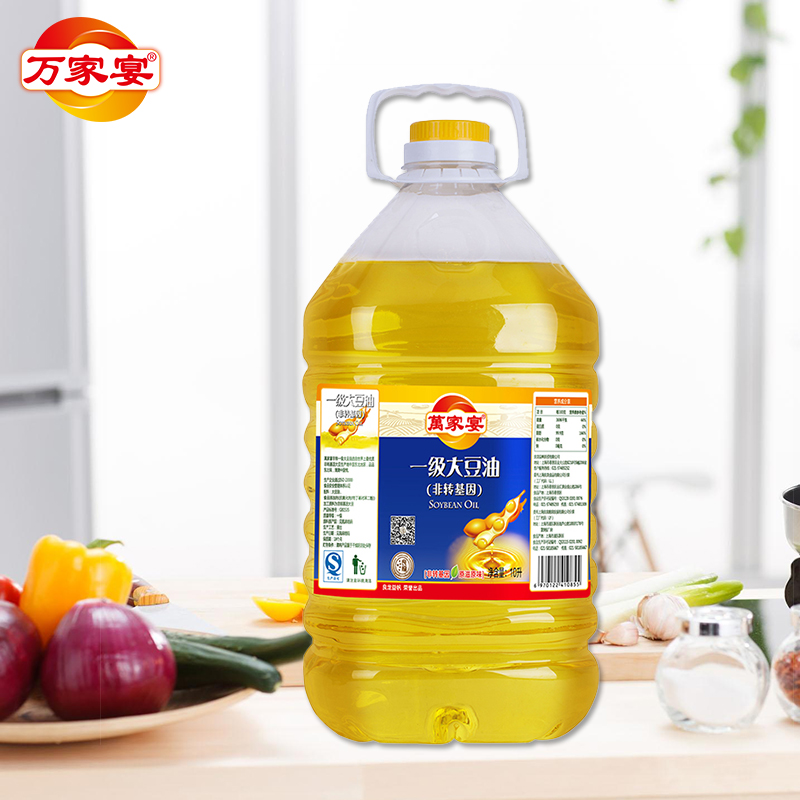 Wanjiayan non transgenic grade 1 soybean oil 10L bottled vegetable edible oil salad oil factory direct sales