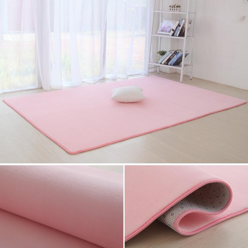 ins短毛地毯卧室满铺可爱网红房间床边毯客厅茶几榻榻米定制尺寸
