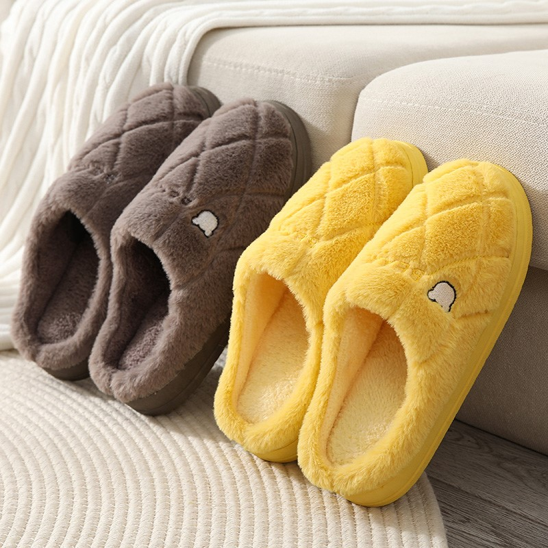 新款棉拖鞋女冬季居家防滑厚底保暖毛毛家用室内情侣男家居秋冬