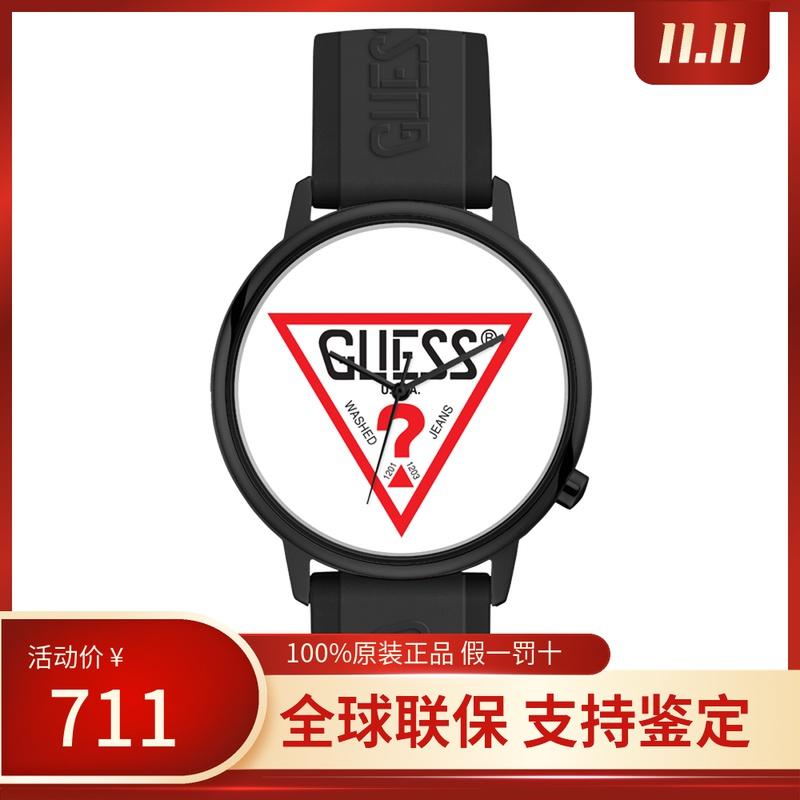 Guess galls Hollywood series 42mm Black Silicone neutral quartz leisure watch v1003m1