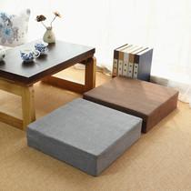亚麻坐垫地板可拆洗冬季加厚蒲团日式方形客厅卧室榻榻米茶几坐垫