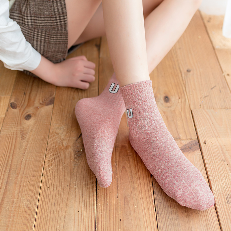 Socks female spring and summer short tube socks cotton socks comfortable and breathable boat socks sweat absorption deodorant socks light and breathable