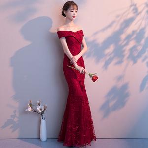 宴会晚礼服女结婚2021新款修身裙