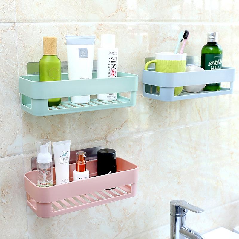 粘贴式置物架卫生间浴室壁挂免钉免打孔吸壁无痕贴厨房收纳三角架