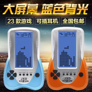 蓝光大屏可插耳机俄罗斯方块游戏机掌机怀旧老人儿童益智玩具礼品