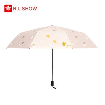 黑胶防晒防紫外线女晴雨两用太阳伞