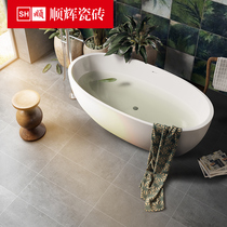 Shun Hui tile bathroom antique brick wall brick 300x600 balcony grey cement brick floor tiles anti-skid wear-resistant