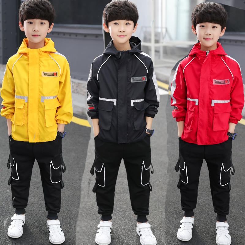 男童秋装洋气套装2019新款中大童运动卫衣儿童装两件套韩版春秋季
