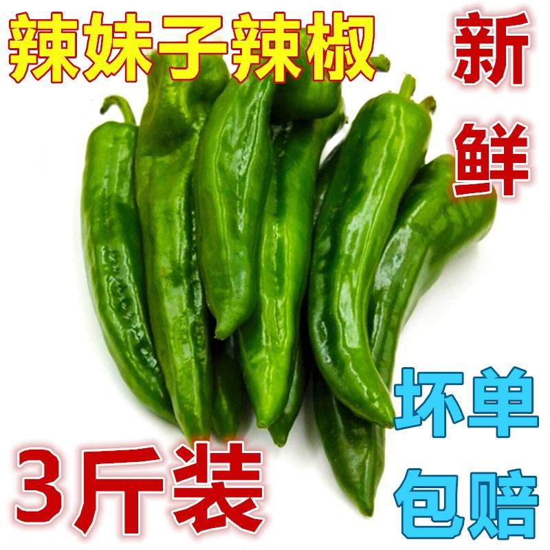 东北特产辣椒小辣椒辣妹子辣椒蔬菜农家菜椒青菜尖椒一件3斤包邮